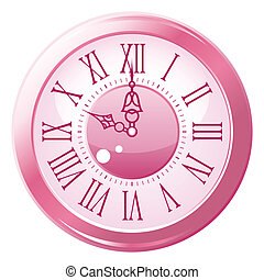 Retro style clock. Vector illustration.