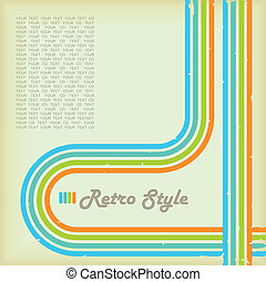 Retro Style - Cover for your cd or lp in retro look.