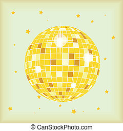 Retro Style Discoball - Cover for your cd or lp in retro...