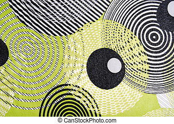 retro style fabric texture with circles