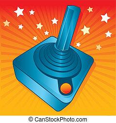 Retro style games joystick vector illustration