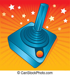 Retro style games joystick vector illustration