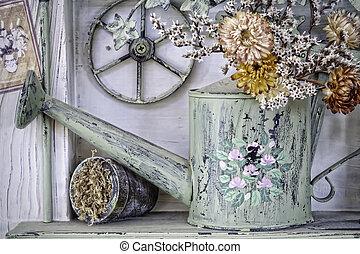 Retro style Gardening background