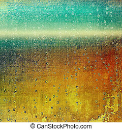 Retro style grunge background, mottled vintage texture. With different color patterns: blue; green; yellow (beige); brown; red (orange)
