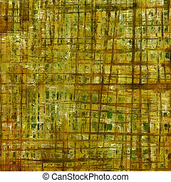 Retro style grunge background, mottled vintage texture. With different color patterns: yellow (beige); brown; gray; green