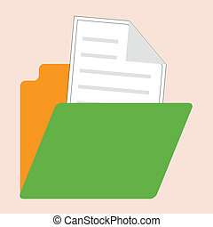 retro style open folder icon