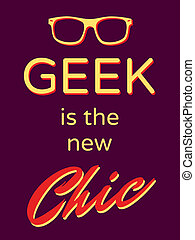 "Retro Style Poster - Cool retro style poster ""Geek is the..."