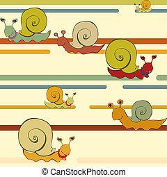 retro style snail background