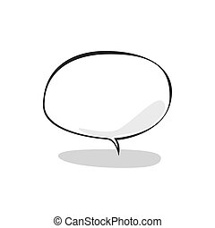 Speech Bubble on a White Background