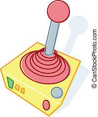 Retro style toy joystick illustration