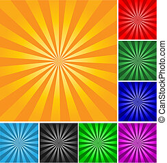 Retro style vector abstract background. Different colors and gradients.