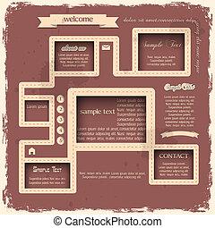 Retro style web design