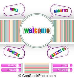 Retro style website template, design frame