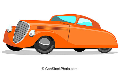 Retro styled automobile - Illustration of a vintage car