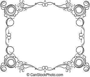 Retro-styled decorative vintage vector frame. Vector...