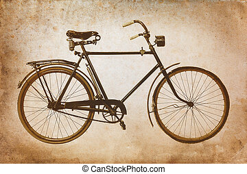 Retro styled image of a vintage bicycle