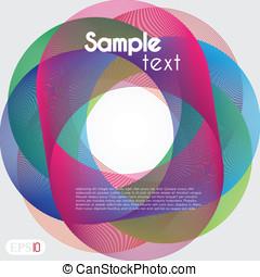 Retro styled interlocking circles in spectrum color