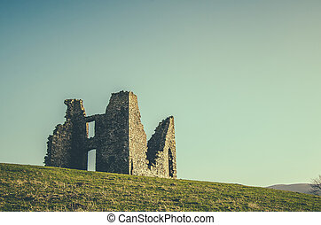 Retro Styled Ruined Castle