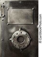 Retro styled safe box door - Retro styled brutal safe box ...
