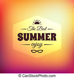Retro styled summer calligraphic design card, vintage...