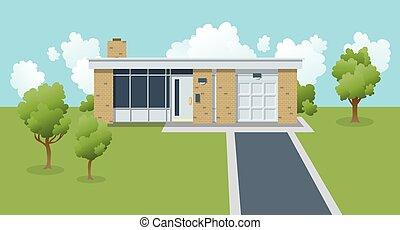 Retro Suburban House