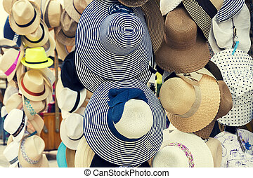 Retro summer hats for sale - Retro looking picture of summer...
