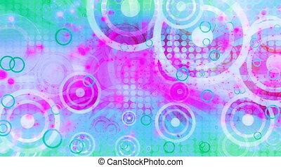 Retro summer splash of color looping animated CG background