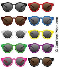retro sunglasses - Retro sunglasses on a white background. ...