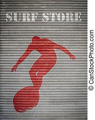 Retro Surf Store Sign