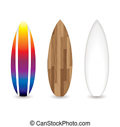 retro surfboards - collection of three retro surfboards with...