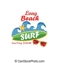 Retro surfing typographical poster with place for text for your design.