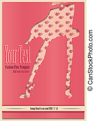 Retro sweet poster flyer pink