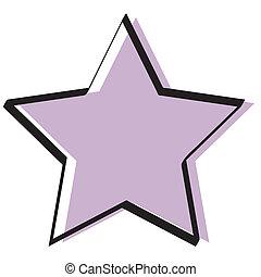 retro, szüret, csillag, háttér