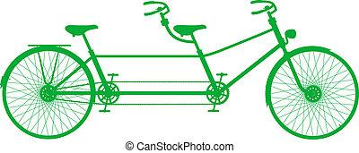Retro tandem bicycle