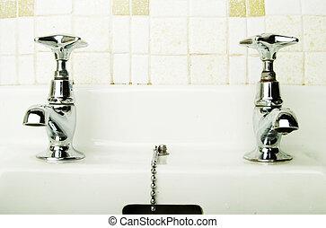 Retro Tap - A retro bathroom sink tap.