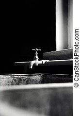 retro tap - Tap and sink in room in ghost town...