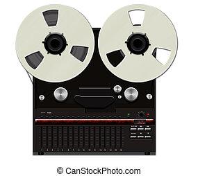 Retro tape recorder - Retro analog reel to reel tape ...