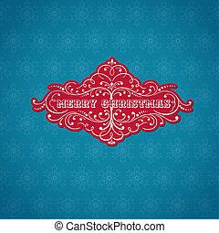 retro, tarjeta de navidad, -, para, invitación, felicitación, en, vector