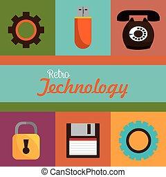 Retro technology design.