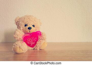 Retro Teddy Bear toy alone