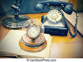 retro, telefon