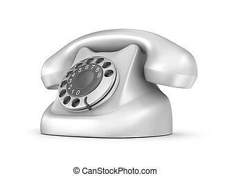 retro, telefone, frente, vista., isolated., meu, próprio, desenho