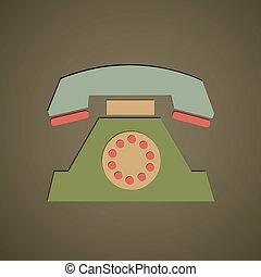 retro, telefone