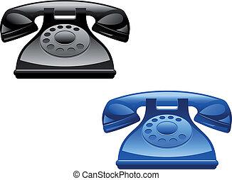retro, telefones