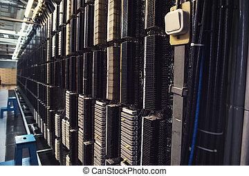Retro telephone exchange