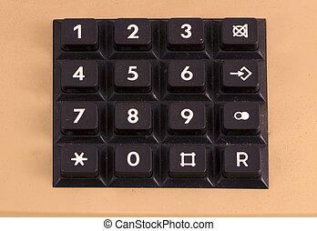 retro telephone keyboard numbers