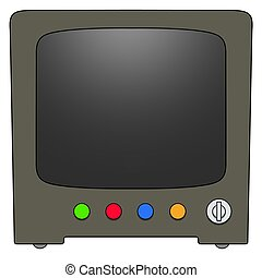Retro Television - Illustrated Retro Television with blank...