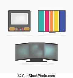 Retro Television Icons set