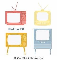 Retro Television Icons.