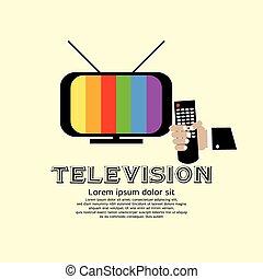 retro, television.